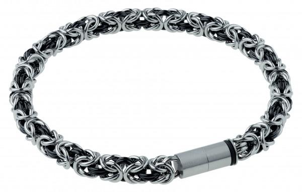 Ernstes Design EDvita petit A527 Königsarmband Edelstahl bicolor mit Magnetverschluss Ø ca. 5 mm