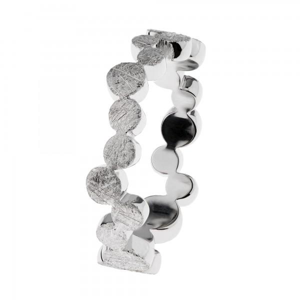 Ernstes Design R581 Evia Ring, Vorsteckring, Edelstahl matt, gekratzt, 6mm