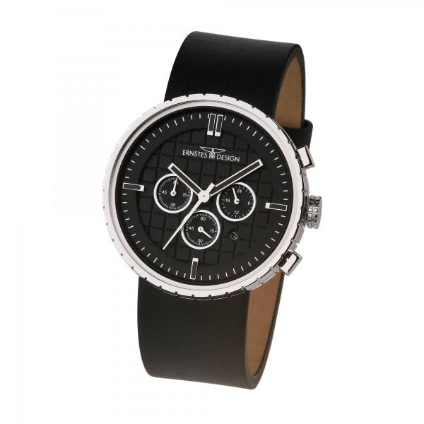 Ernstes Design Herren-Armbanduhr, Chronograph, Edelstahl U010 BL Ø ca. 43,5 mm
