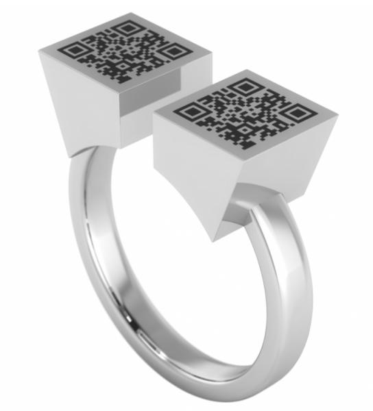 annika plum offener Ring open rings Cybercube QR-Code offen AP Sterlingsilber 1003