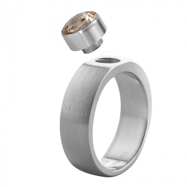 Melano Ring in Edelstahl von Melano Schmuck ohne Fassung