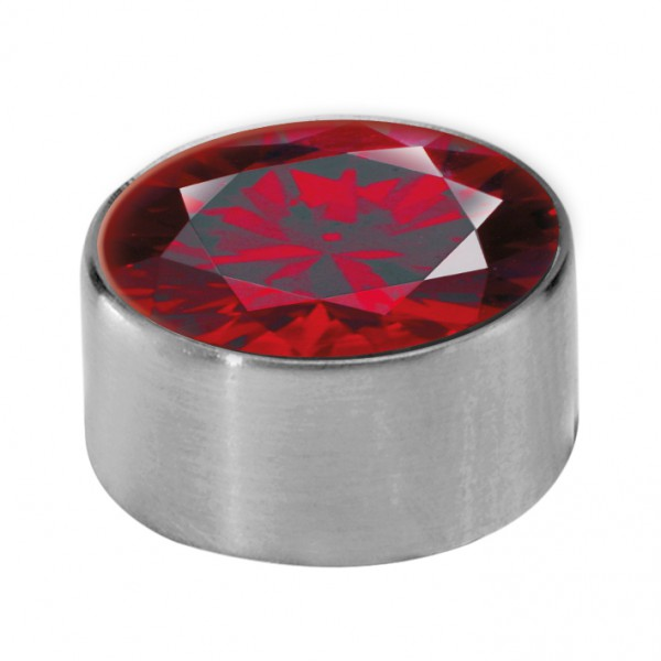 Melano Edelstahl Fassung, Aufsatz für Ring von MelanO Schmuck zum Wechseln MO1SR 4065B dark red