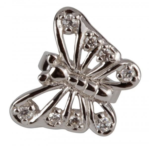 Grace Anhänger CDS-05 Butterfly Silber Clip, Bead, Charms fürs Lederarmband