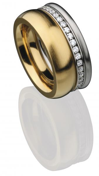 ED vita Ringe Kombination aus 3 Vorsteckringen, Beisteckringen aus Edelstahl von Ernest Design