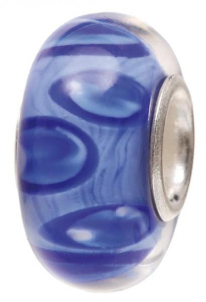 Piccolo Murano Bead, Charm, Muranoglaskugel, GPS 74 blau von Piccolo das Original