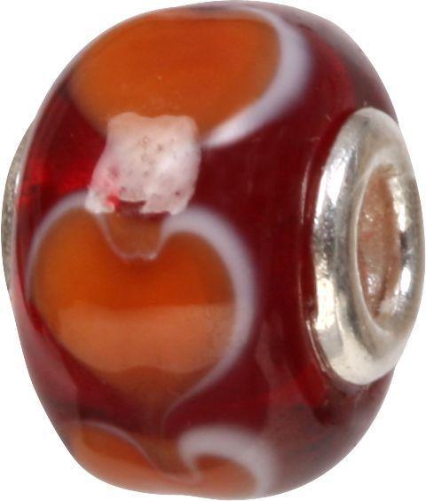 Mundgeblasene Muranoglaskugel mit Silberkern, Charm, Bead, GPS 08 von Piccolo das Original