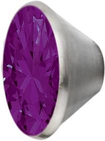 Melano Edelstahl Fassung Aufsatz purple für Ring von MelanO Schmuck zum Wechseln MO1SR 4066