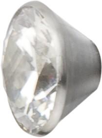 Melano Edelstahl Fassung Aufsatz white für Ring von MelanO Schmuck zum Wechseln MO1SR 4066