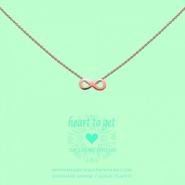 """Heart to get Anhänger Symbol """"Unendlichkeit"""" Silber rosé beschichtet S173INF13R"""