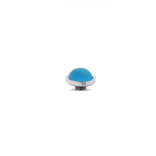 Melano Vivid, VM31 Aufsatz / Fassung Frosted, 10 mm, Edelstahl / Stein in Farbe sky blue