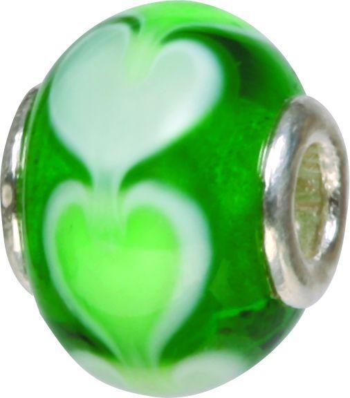 Piccolo Murano Bead, Charm, Muranoglaskugel mit Silberkern, GPS 08 von Piccolo das Original