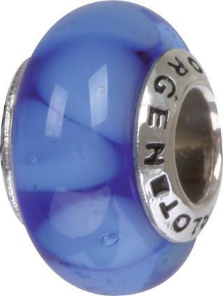 Murano Bead, Murano Glaskugel für Bettelarmband blau, GPS 88 von Charlot Borgen Design
