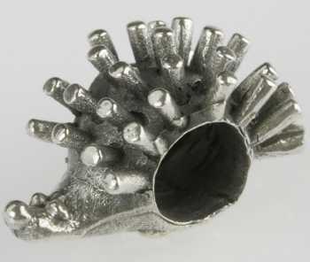 Silberkugel Igel geschwärzt, Beads, Charms, Charlot Borgen Design