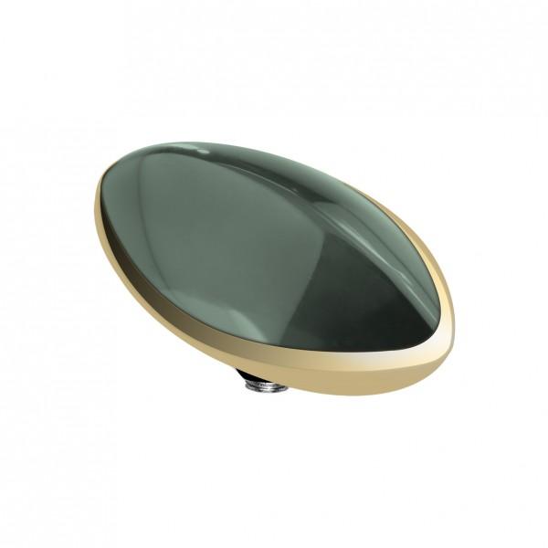 Melano twisted Fassung, Aufsatz Edelstahl Farbe gold mit Zirkonia Stein Marquise für Ringe