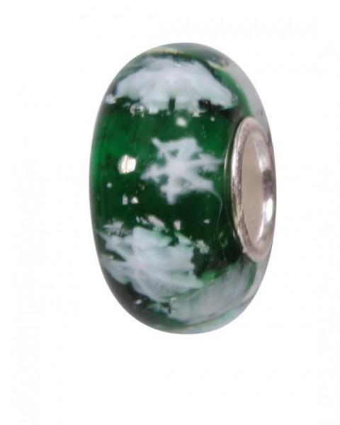 Murano Bead, Murano Glaskugel für Bettelarmband grün, GPS 09 von Charlot Borgen Design