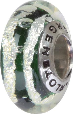 Murano Bead, Murano Glaskugel für Bettelarmband grün, GPS 86 von Charlot Borgen Design