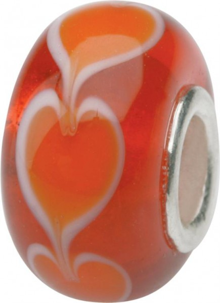 Murano Bead, Murano Glaskugel für Bettelarmband rot, GPS 08 von Charlot Borgen Design