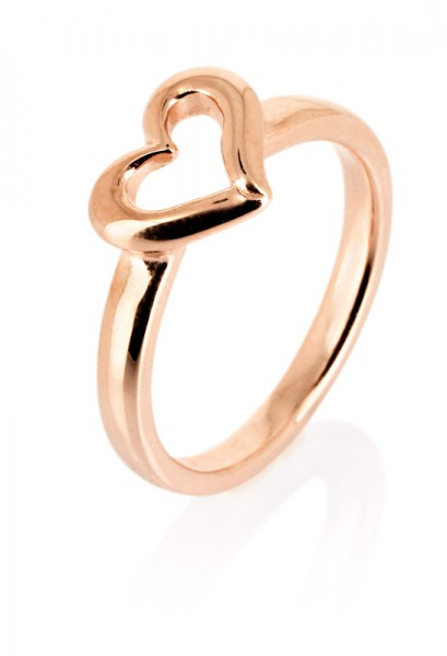 heartbreaker designed by Drachenfels style & go - Steckring / Vorsteckring Herz-Motiv rosé LD DH 11
