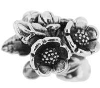 Jolie Blumen Bead, Anhänger, Charm, Silberkugel, Element in Silber ABK-045 von Jolie Collection