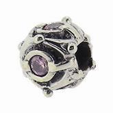 Piccolo Silber Charms mit rosa Stein, Anhänger, Kugel, Bead Silber APX-007 von Piccolo das Original