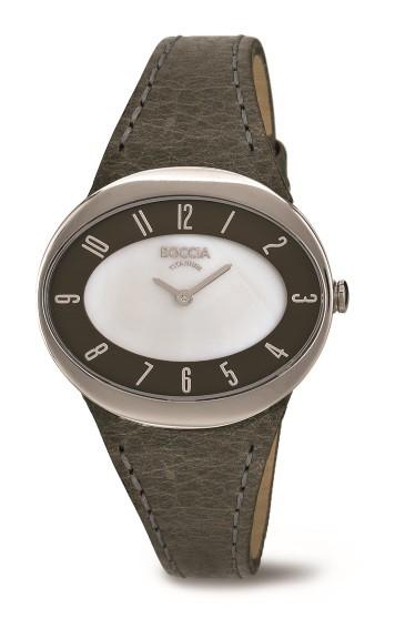 Boccia Damenuhr in Titan rosé Allergiefrei 3165-15 Uhr in Oval 36mm