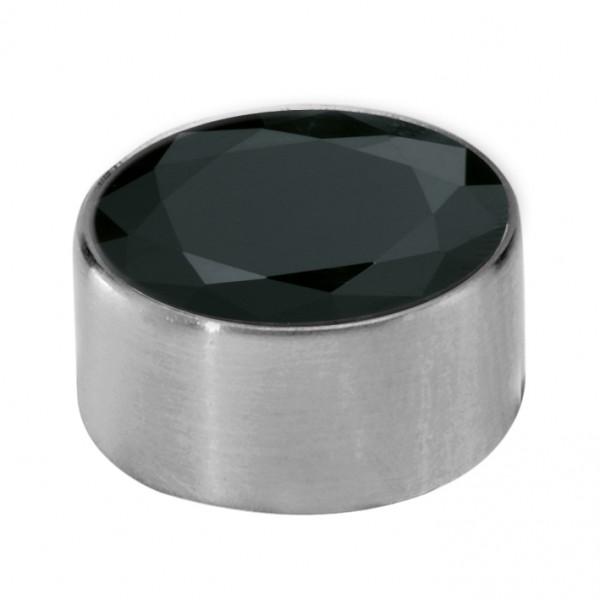 Melano Edelstahl Fassung, Aufsatz für Ring von MelanO Schmuck zum Wechseln MO1SR 4065B schwarz