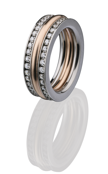 ED vita Ringe bicolor, Kombination aus Vorsteckringen, Beisteckringen von Ernest Design
