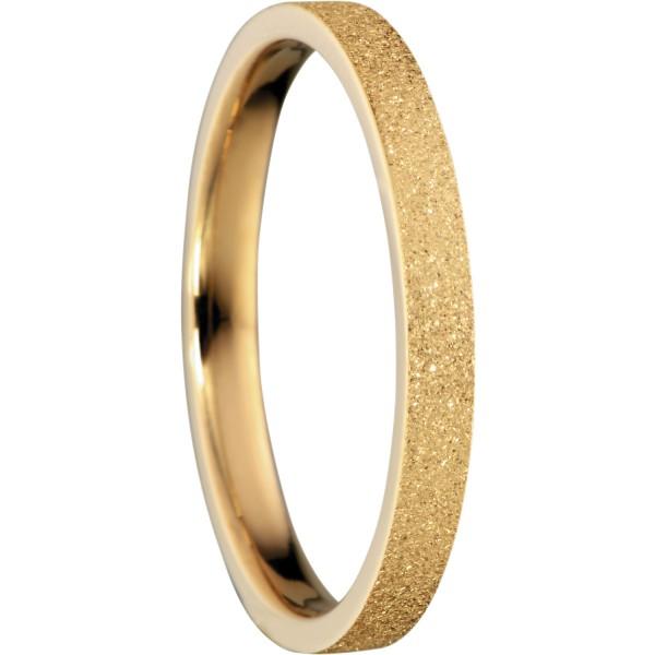 Bering 557-29-X1 Kombinationsring Innenring Schmal Edelstahl goldfarben beschichtet Sparkling Effekt
