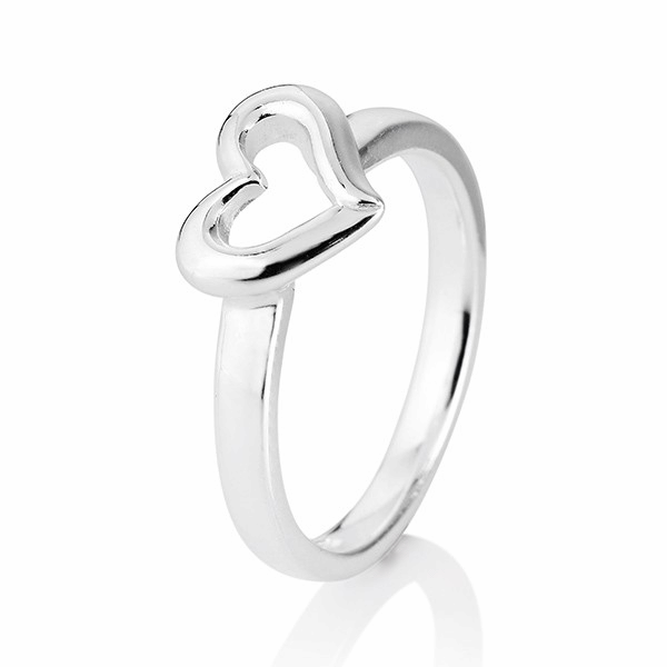 heartbreaker designed by Drachenfels style & go - Steckring / Vorsteckring Herz-Motiv Silber LD DH11