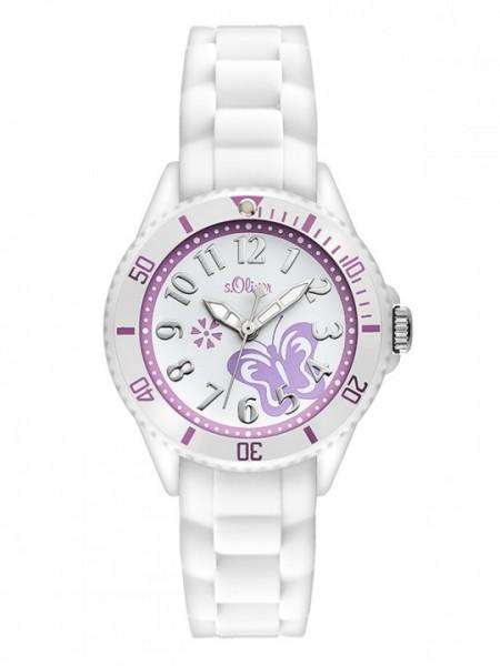 s.Oliver wunderschöne Armbanduhr Schmetterling mit Silikonarmband SO 2755 PQ