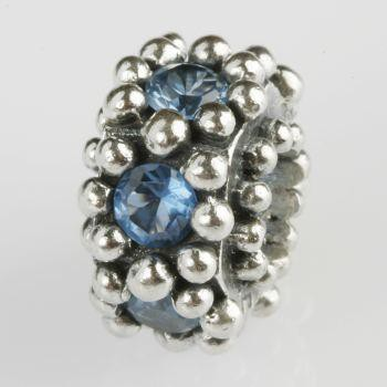 Silberkugel geschwärzt mit Zirkonia, Charm, Charlot Borgen Design