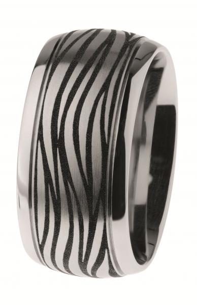 Ernstes Design Ring R500 Edelstahl poliert, mattiert, graviert