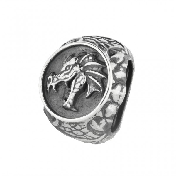 Rebeligion Drachen Anhänger Large / Men Black Rock von Rebeligion True Silver Schmuck 150111371001