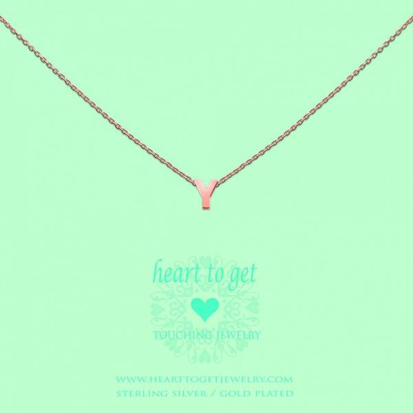Heart to get Anhänger Buchstabe Y Silber rosé beschichtet L166INY13R