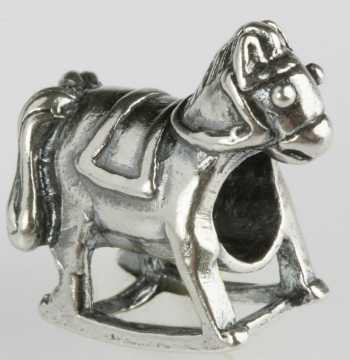 Silberkugel geschwärzt, Schaukelpferd, Charlot Borgen Design