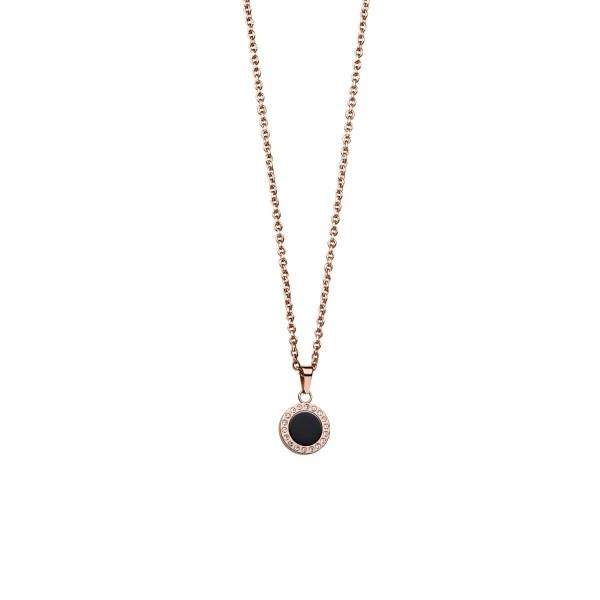 Bering, Arctic Symphony Collection,Collier, Halskette mit Anhänger, Edelstahl rosé / Zirkonia