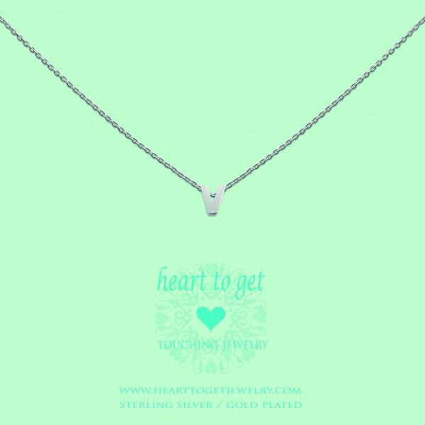 Heart to get Anhänger Buchstabe V Silber L163INV13S