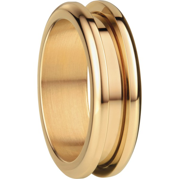Bering 526-20-X3 Kombinationsring Basisring / Außenring Schmal Edelstahl goldfarben beschichtet