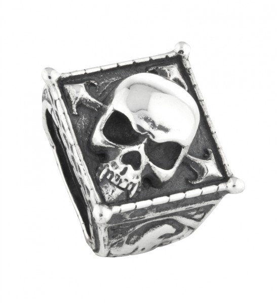 Rebeligion Anhänger Add On Vampir Totenkopf Large / Men Black Rock 15 01105 71 001 fürs Armband