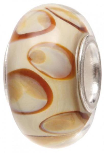 Piccolo Murano Bead, Charm, Muranoglaskugel, GPS 74 beige von Piccolo das Original