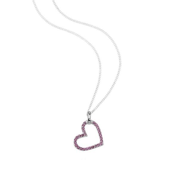 """So Cosi """"Shape of my heart"""" Halskette, Collier, Anhänger inkl. Kette Silber mit Steinen 17-015-2"""