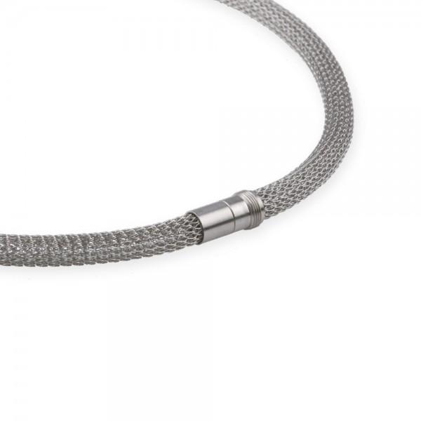 Ernstes Design EDvita Strickkette K133 Edelstahl mit Magnetverschluss Ø ca. 7 mm