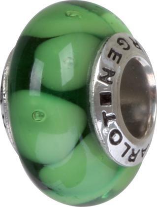 Murano Bead, Murano Glaskugel für Bettelarmband grün, GPS 88 von Charlot Borgen Design