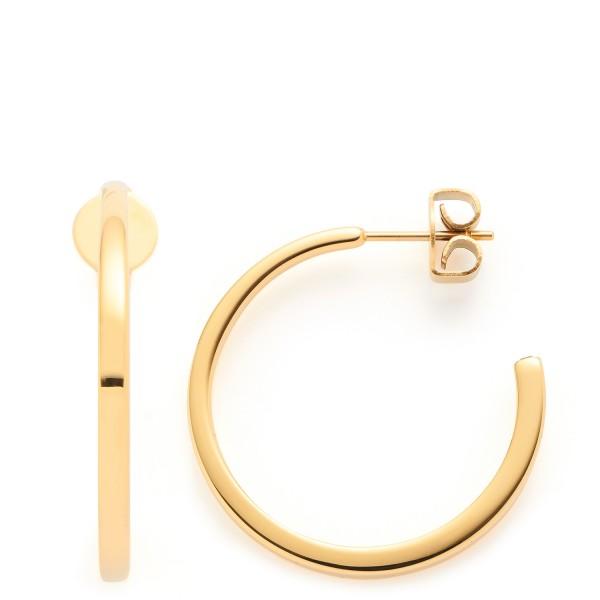 Leonardo Jewels CIAO Halbcreolen, Biggi gold, Edelstahl goldfarben beschichtet, 018216