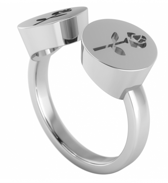 annika plum offener Ring open rings Rose offen AP Sterlingsilber 1002