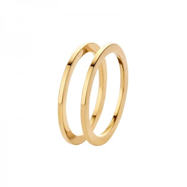 MelanO Friends Ring, Vorsteckring, Sadé, Edelstahl goldfarben beschichtet, 1 mm, FR16