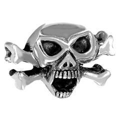 Totenkopf als Anhänger in Silber für Männer Modischer Männerschmuck Für Hals und Armkett