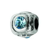 Piccolo Silber Charms mit Stein, Anhänger, Kugel, Bead Silber APX-008 von Piccolo das Original