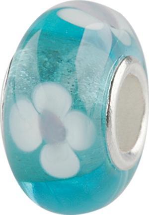 Murano Bead, Murano Glaskugel für Bettelarmband türkis, GPS 03 von Charlot Borgen Design
