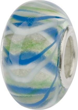 Murano Bead, Murano Glaskugel für Bettelarmband blau, GPS 19 von Charlot Borgen Design